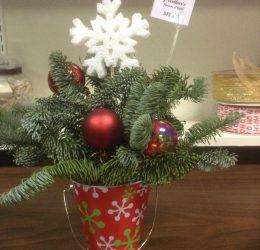 Christmas desk topper